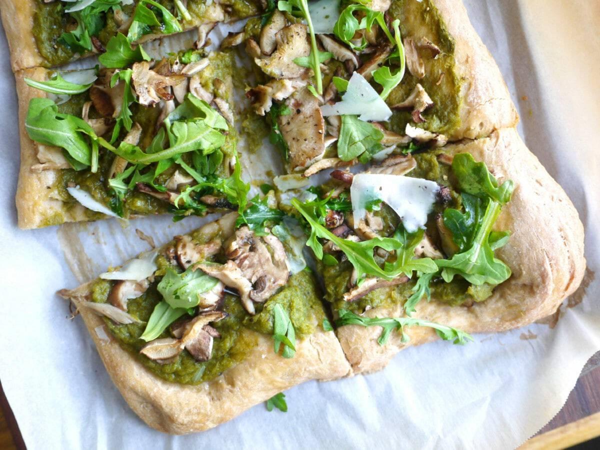 leek, mushroom and truffle oil flatbread 2