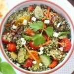 roasted veggies and tabbouleh 330