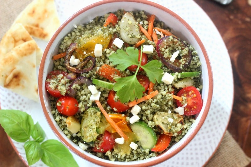 Roasted Vegetable and Tabbouleh Salad