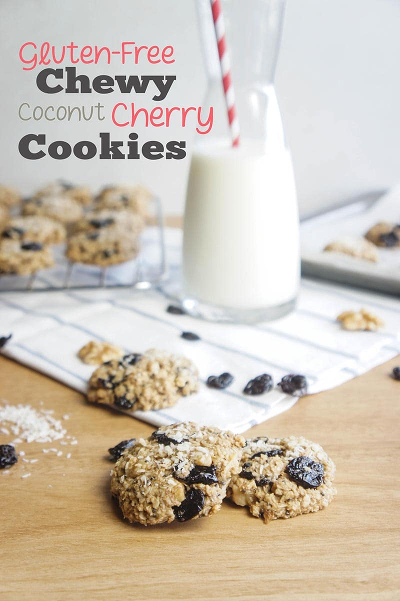 Gluten-Free Chewy Cherry Coconut Cookies