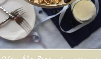 Greek Yogurt Cheesecake with Cookie Dough Crust