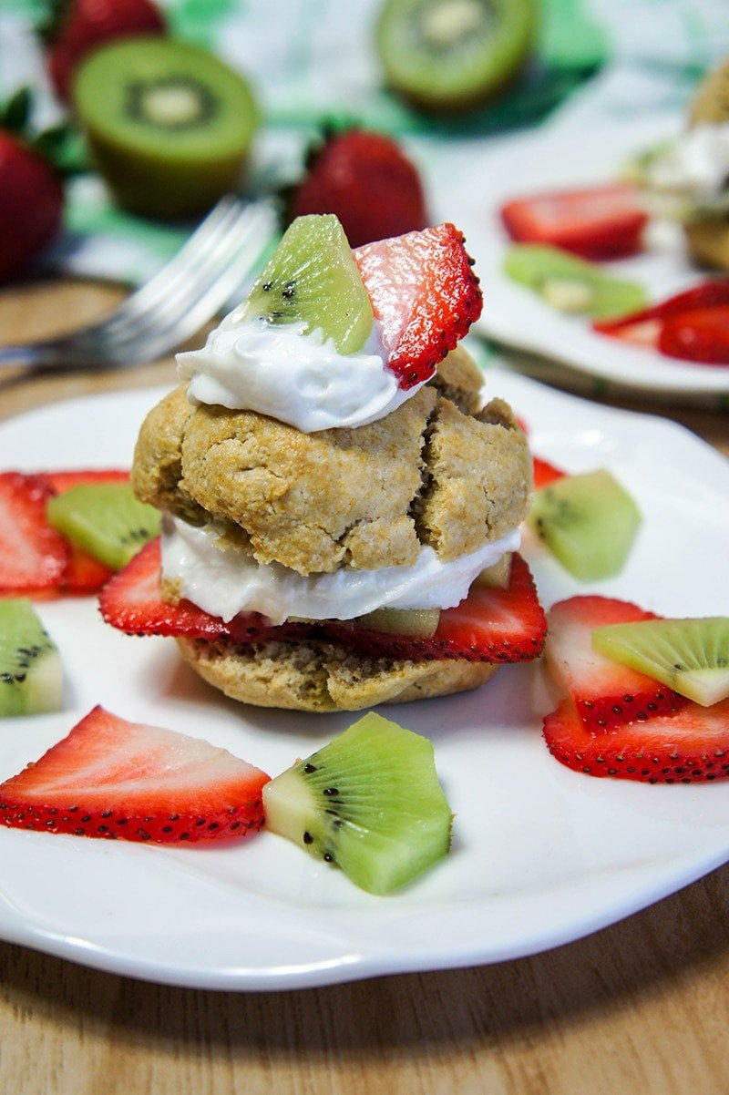 Strawberry Kiwi Shortcakes, Gluten-Free