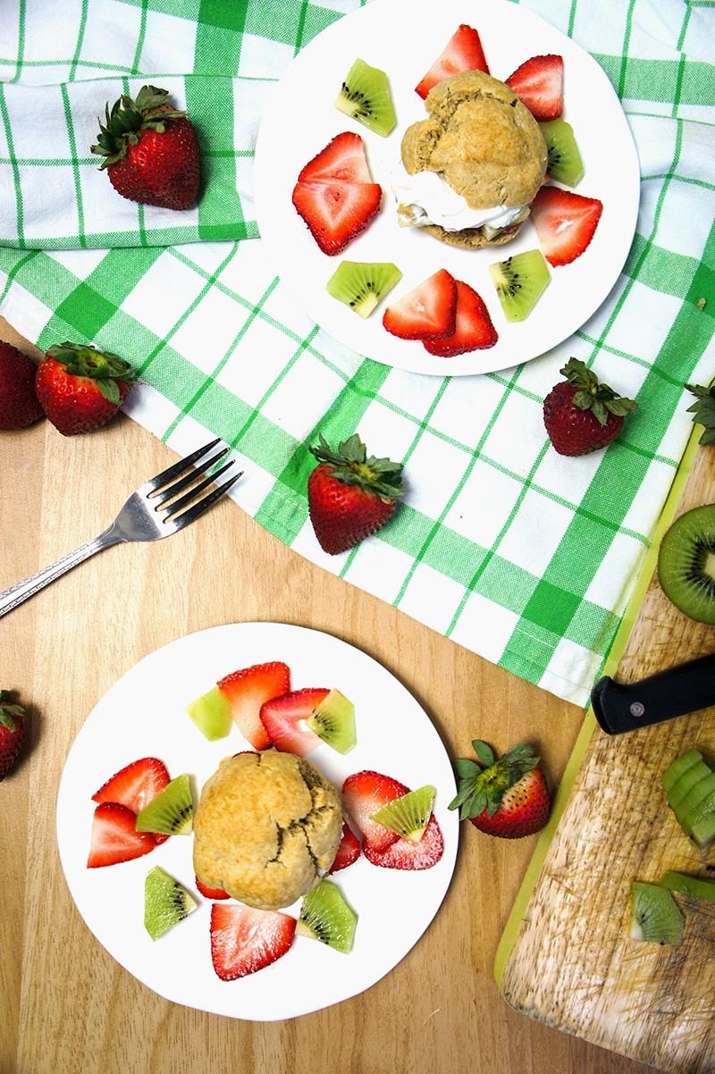 Strawberry Kiwi Shortcakes
