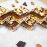 No-Bake Chocolate Almond Date Bars
