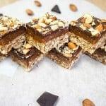 No-Bake Chocolate Almond Date Bars