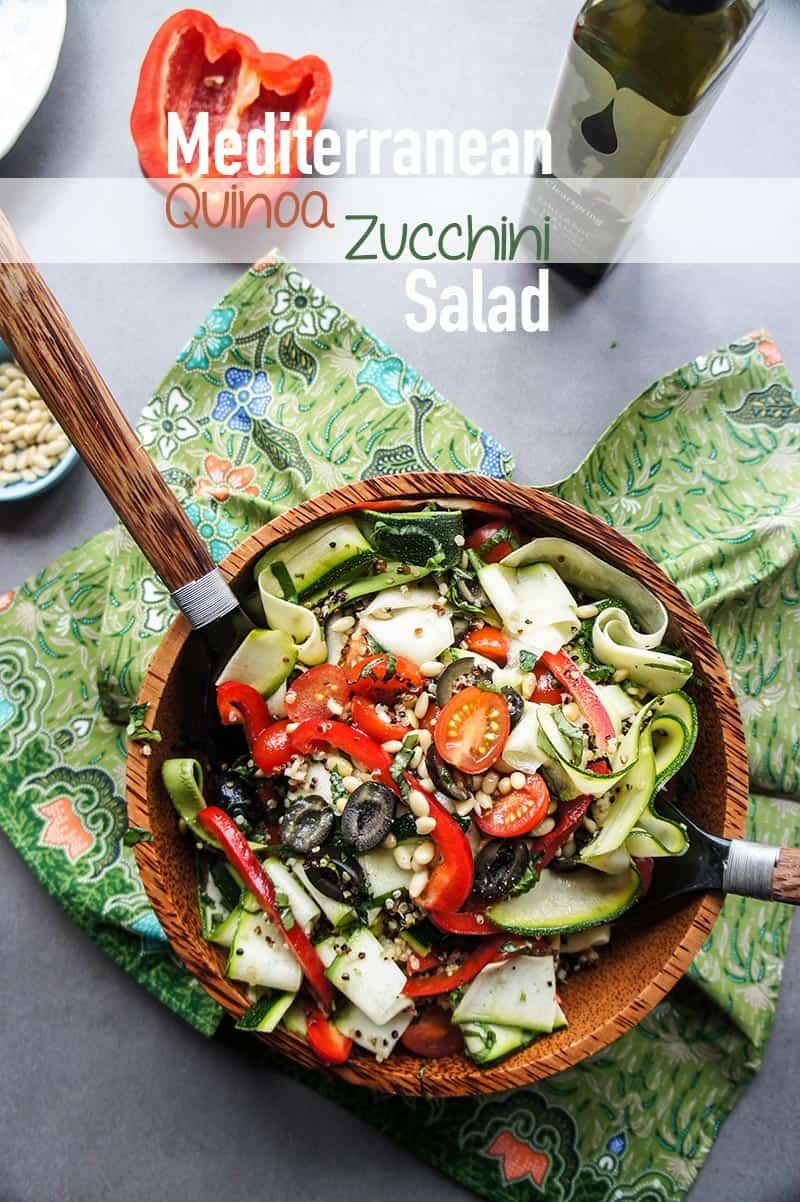Quinoa Zucchini Ribbon Salad
