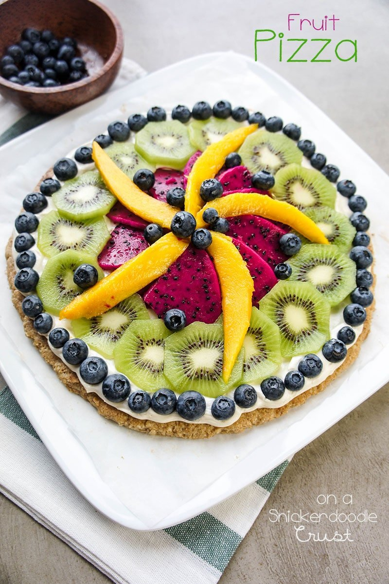 Fruit Pizza on a Snickerdoodle Crust / This gluten-free beauty makes an impressive summer dessert! Customize with in-season fruit.