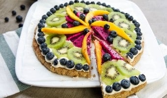 Serving Fruit Pizza