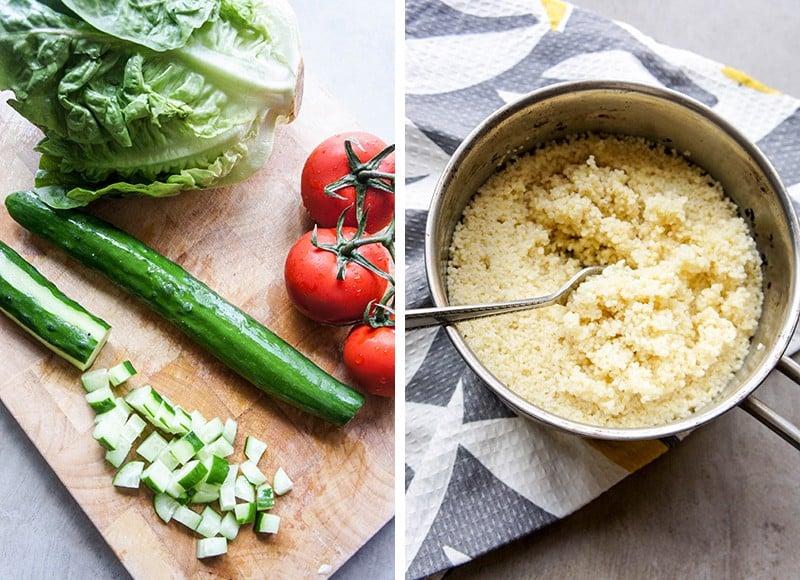 Vegetables and Millet
