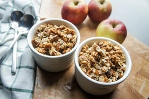 Speedy Saucy Apple Crisp (GF and Low Sugar!)