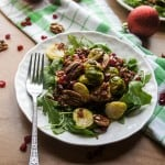 Warm Winter Red Rice, Arugula, and Brussels Sprouts Salad