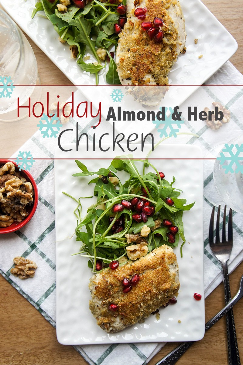 Holiday Almond and Herb Coated Chicken / This simple and flavorful chicken dish is sure to make any meal extra special. Serve for a special Christmas lunch.