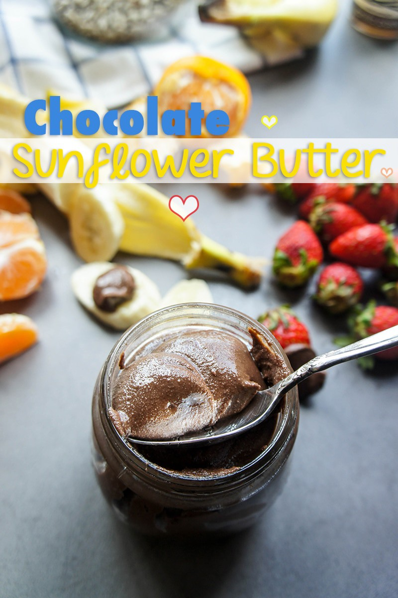 Chocolate Sunflower Butter / Vitamin Sunshine / A lightly chocolately and delicious nutty spread. Allergy friendly!