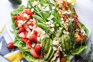 Strawberry and Greens Lemon Thyme Chicken Salad (Whole30)