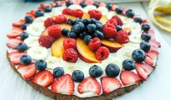 Fruit Pizza on a Gingersnap Crust