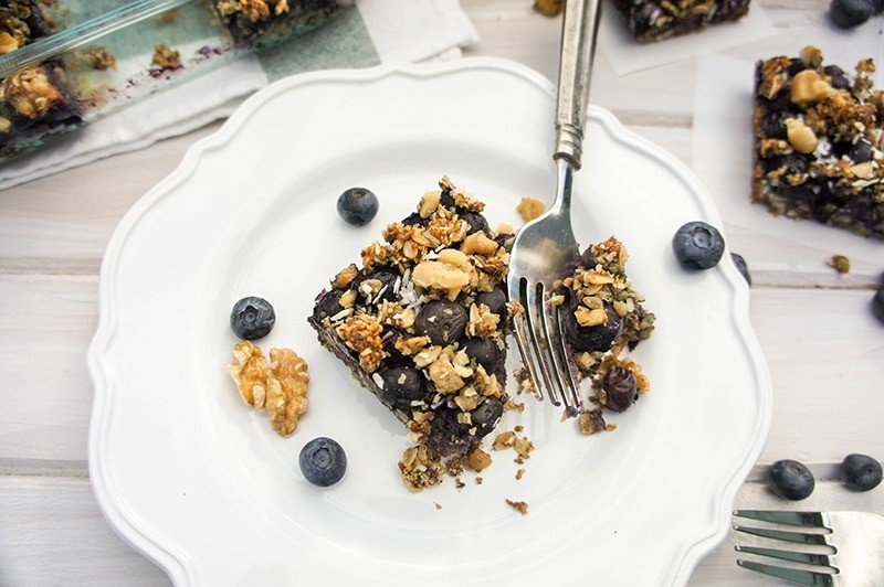 Blissful Blueberry Breakfast Bars (Sugar Free)