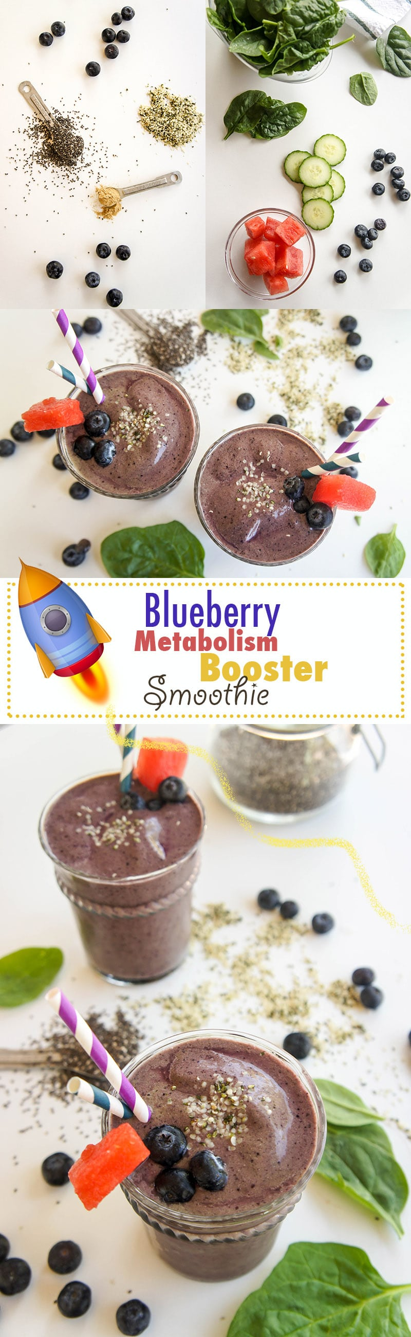 Blueberry Metabolism Boosting Smoothie / This blend of fruit, vegetables, and seeds is sure to rev up a sleepy metabolism!