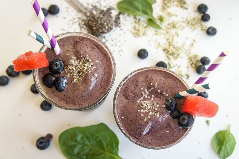 Blueberry Metabolism Booster Smoothie