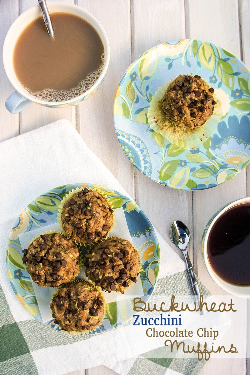 Buckwheat Zucchini Chocolate Chip Muffins (Gluten Free) - Vitamin ...
