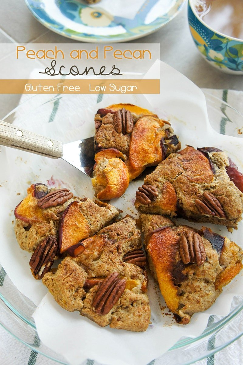 Gluten Free Peach and Pecan Scones / These flakey and tender scones ...