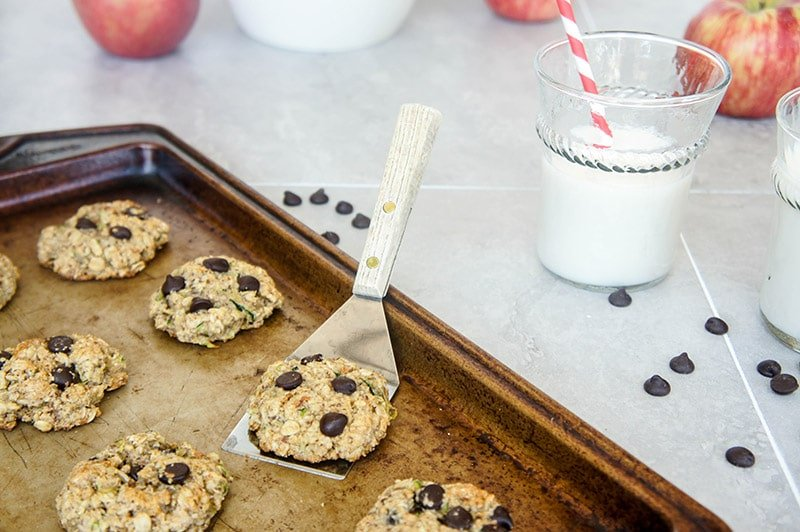 Zucchini Chocolate Chip Oatmeal Cookies (Gluten Free)