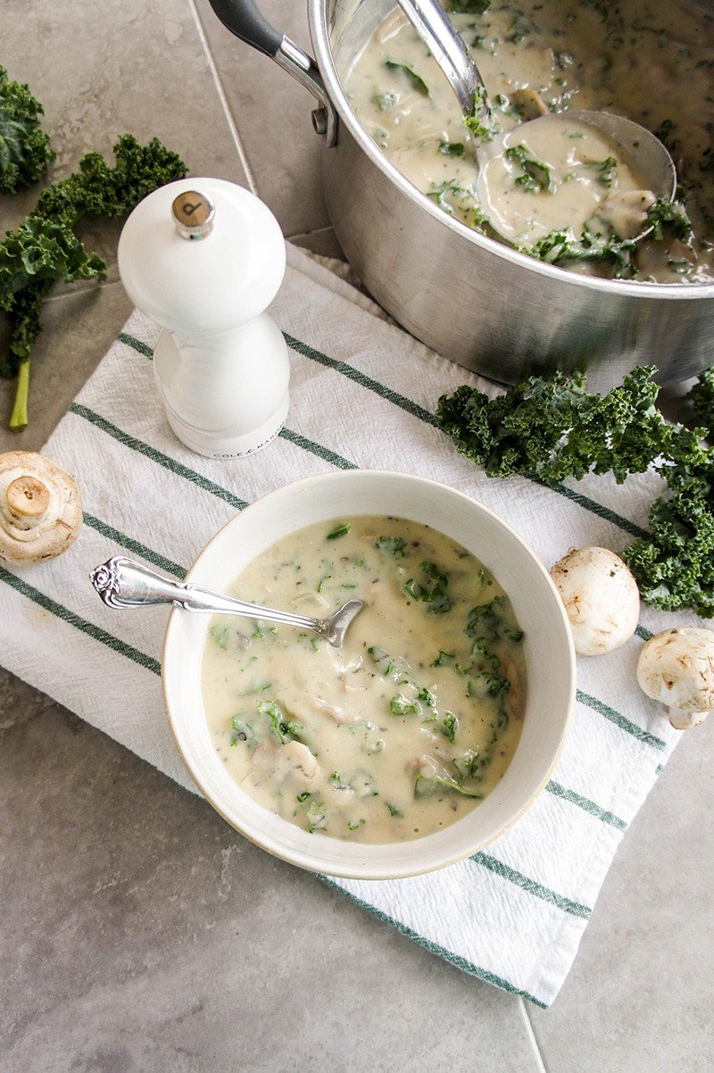 Cream of Mushroom Soup / Make this soup, or use it as condensed soup in recipes! Dairy free, vegan and paleo.