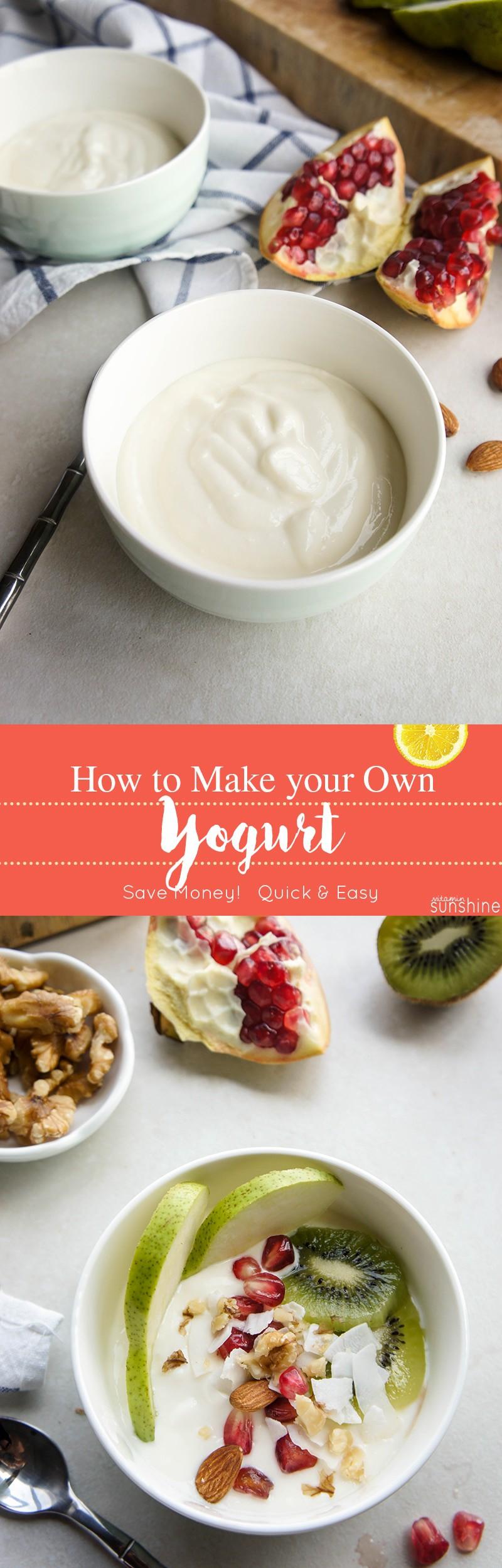 How to Make Yogurt / Thick and creamy yogurt is easy to make, and will save you money!