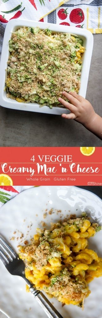 Creamy Macaroni and Cheese with 4 Veggies / This family favorite recipe has an amped up nutritional profile.
