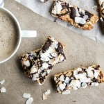 Toasted Coconut Protein Bar Recipe / These delicious bars are made with clean, gluten free ingredients. Low in sugar, full of toasted coconut flavor.