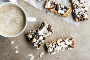Toasted Coconut Protein Bar Recipe + Clean Travel Snack Ideas