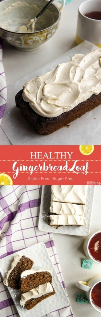 Gingerbread Loaf / Gluten free and sugar free, this gingerbread loaf is moist and full of holiday spice.
