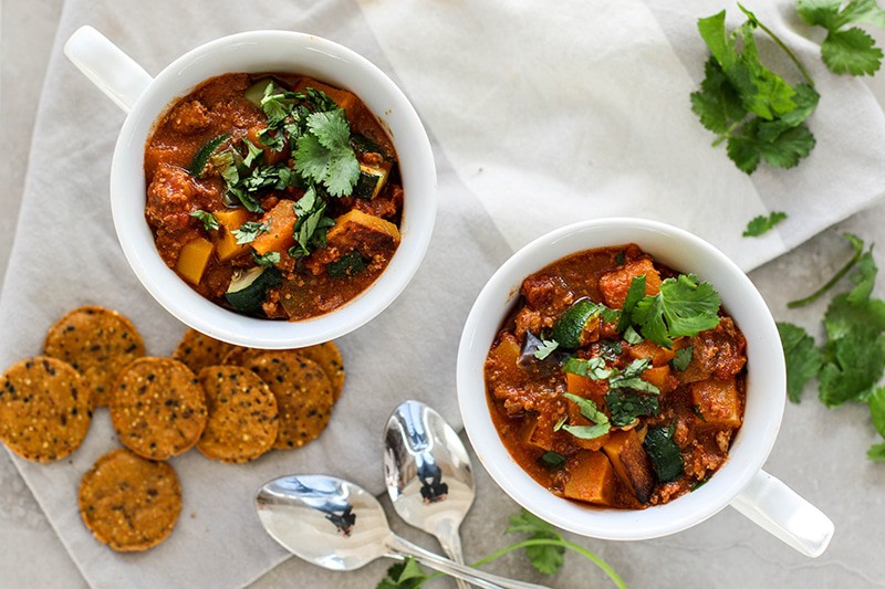 Roasted Butternut Turkey Chili (Paleo, Whole30)