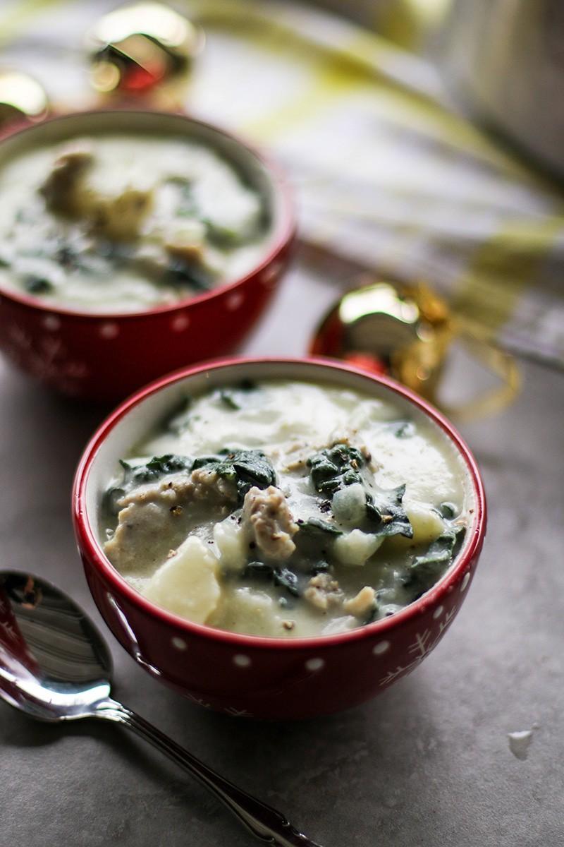Creamy Sausage Potato Kale Soup Dairy Free Vitamin