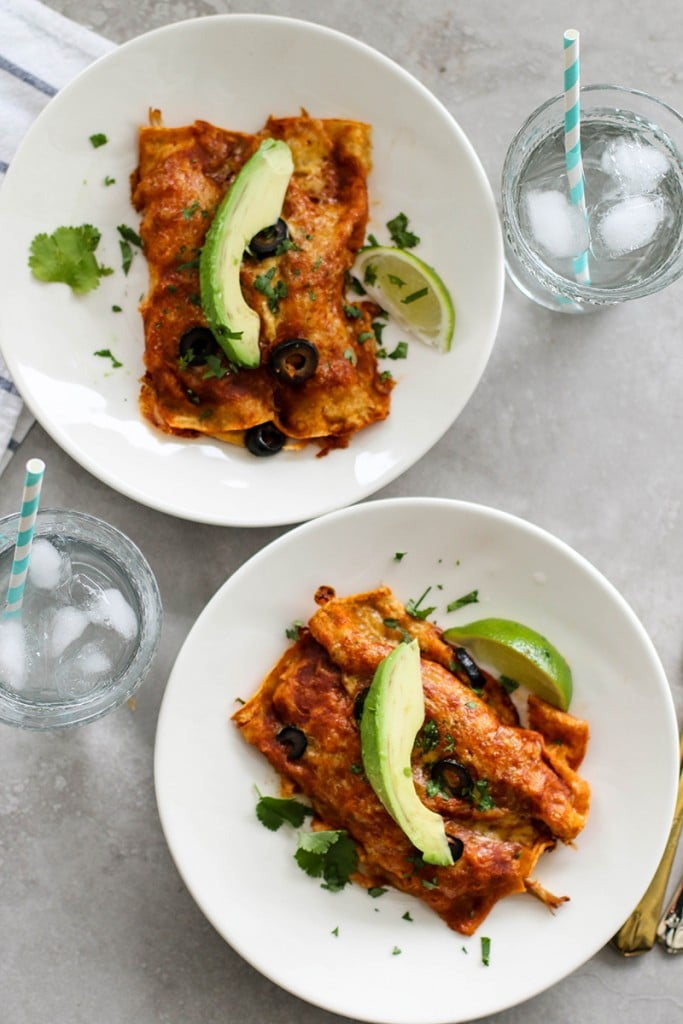 Leftover Turkey Sweet Potato Enchiladas / Spice up your holiday leftovers. These delicious enchiladas are the perfect way to spice up leftover turkey.
