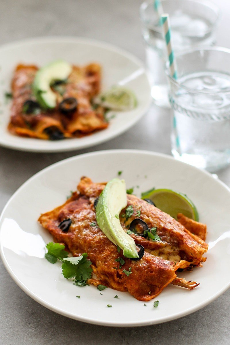 Turkey And Sweet Potato Enchiladas Recipe — Dishmaps