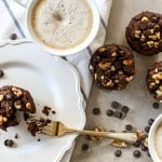 Gluten Free Double Chocolate Chip Muffins (No Sugar Added)