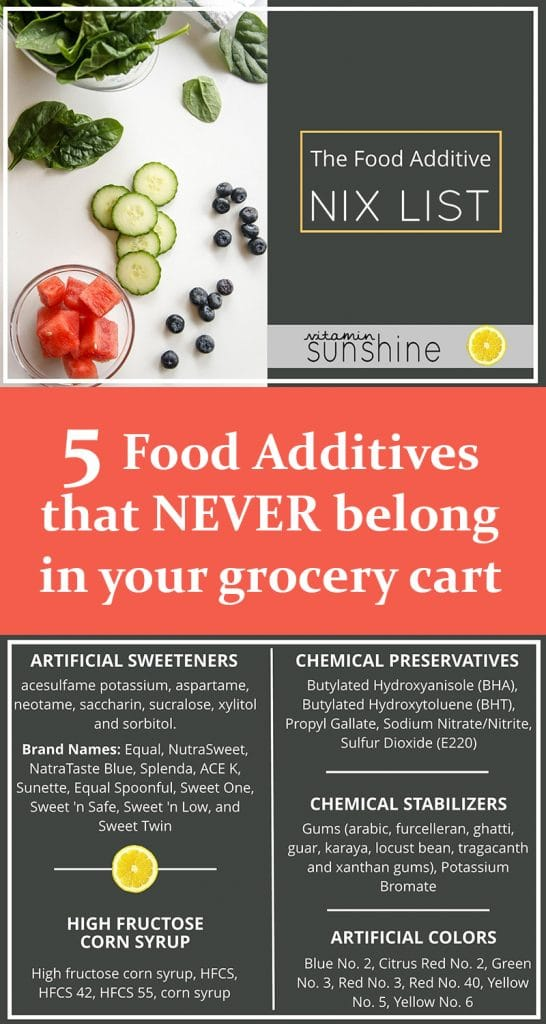 Food Additive Nix List / This helpful list explains which food additives to avoid
