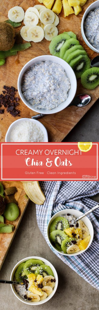 Overnight Oats / This delicious make-ahead breakfast includes chia seeds and is a healthy, clean recipe.