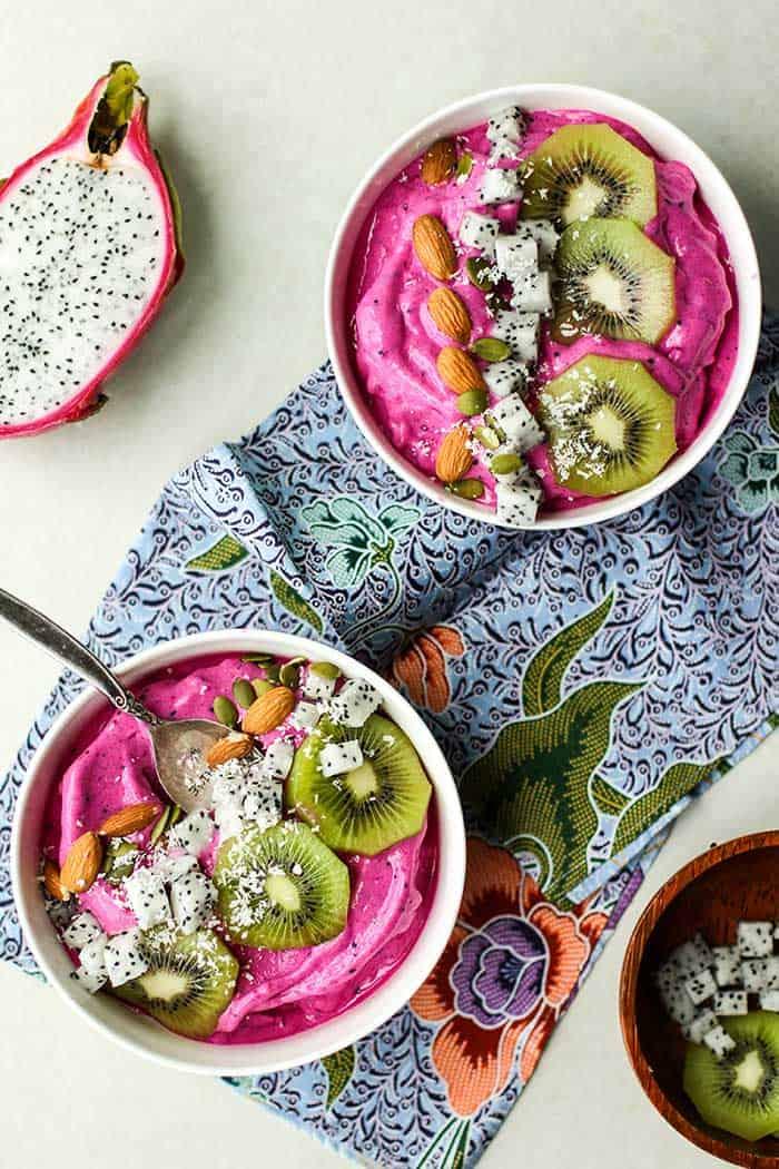 Dragon Fruit Smoothie Bowls Pitaya Bowls Sunkissed Kitchen