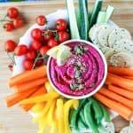 Beet Hummus / This dazzling magenta hummus is a healthy dip, spread, or salad topper.
