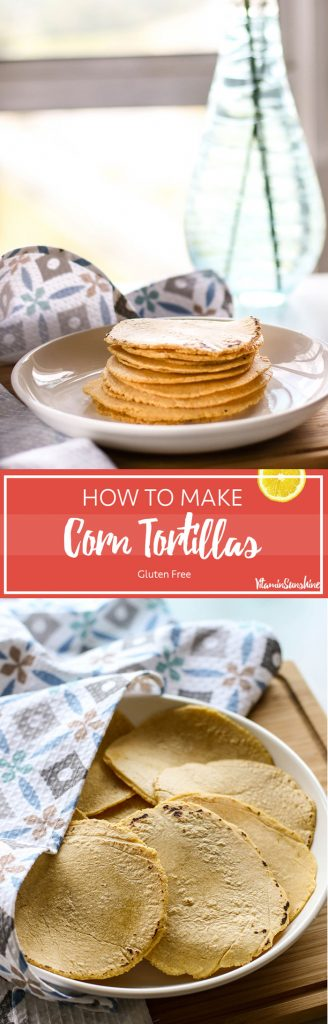 How to Make Corn Tortillas / These tortillas are so simple to make, and are a perfect gluten free wrap.