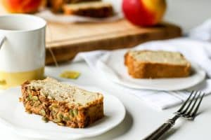 Apple Bread with Pumpkin Seed Streusel Topping