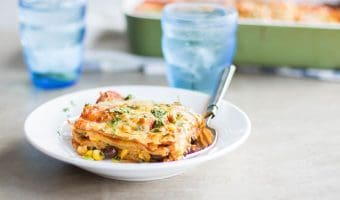 Vegetarian Enchilada Casserole (Freezer Friendly Meal Series)