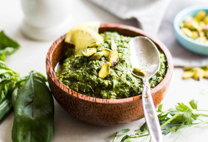 Pistachio Herb Pesto