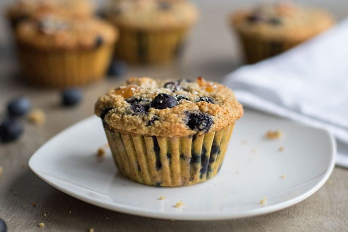 Blueberry Apricot Oat Bran Muffins