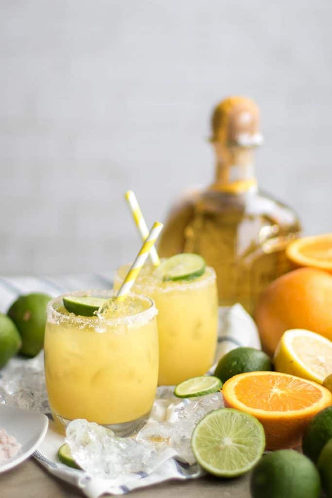 Healthy Scratch Margaritas / These margaritas get a healthy twist with fresh squeezed fruit juice for tons of flavor and natural sweetness. Cheers!