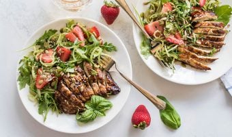 Grilled Balsamic Chicken with Strawberry Cucumber Salad (Summer Grilling Series)