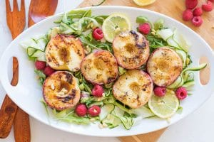 Serrano Honey Grilled Peaches (Summer Grilling Series)