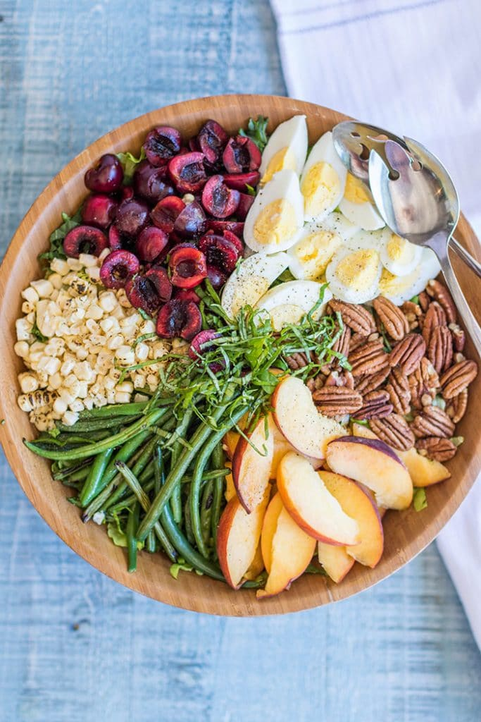 Mid Summer Dream Salad / This salad is a celebration of summer produce-- green beans, sweet corn, cherries and peaches are the stars of the show.