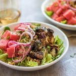 Watermelon Balsamic Chicken Salad